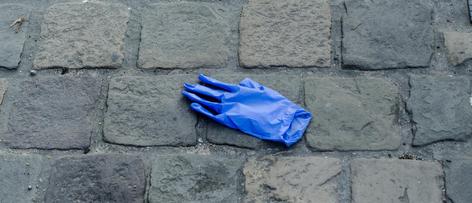 plastic handschoen